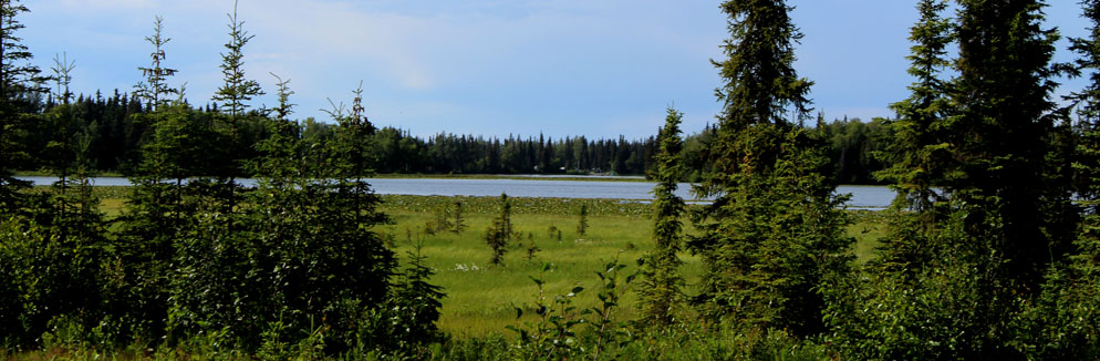 View of Johnson Lake. Just across the way from our Campgrounds.